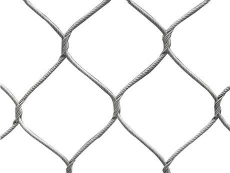 There is a handwoven type of rope mesh fencing.