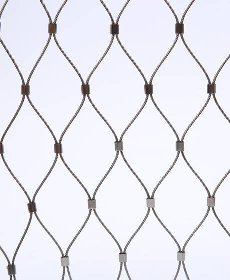 Stainless Steel Rope Mesh with Ferrules for Tiger Cage, Aviary Mesh